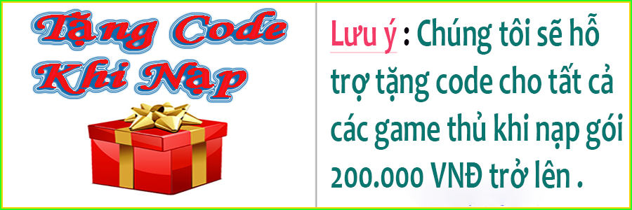 tặng code khi nạp thẻ au mix bằng thẻ cào 200.000 VNĐ