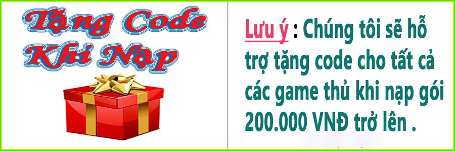 tặng code khi nạp thẻ zingspeed mobile bằng thẻ cào 200.000 VNĐ